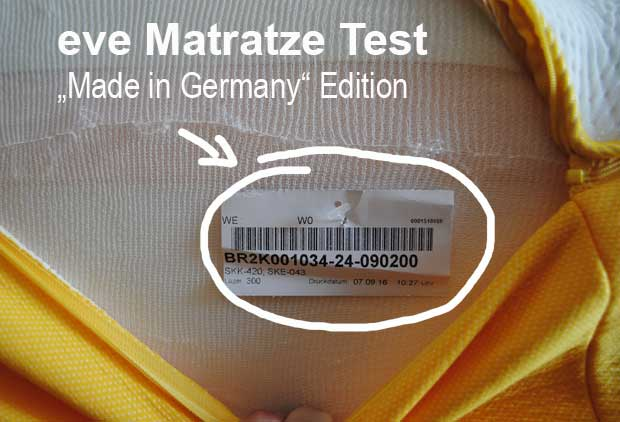 "eve Matratze ""Made in Germany"" Edition stellt das britische Pendant in den Schatten."