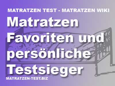 matratzen favoriten und pers nliche testsieger matratzen test. Black Bedroom Furniture Sets. Home Design Ideas