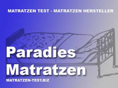 paradies edition matratzen test. Black Bedroom Furniture Sets. Home Design Ideas