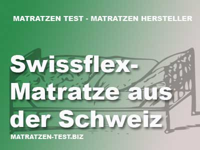 swissflex matratze aus der schweiz matratzen test. Black Bedroom Furniture Sets. Home Design Ideas